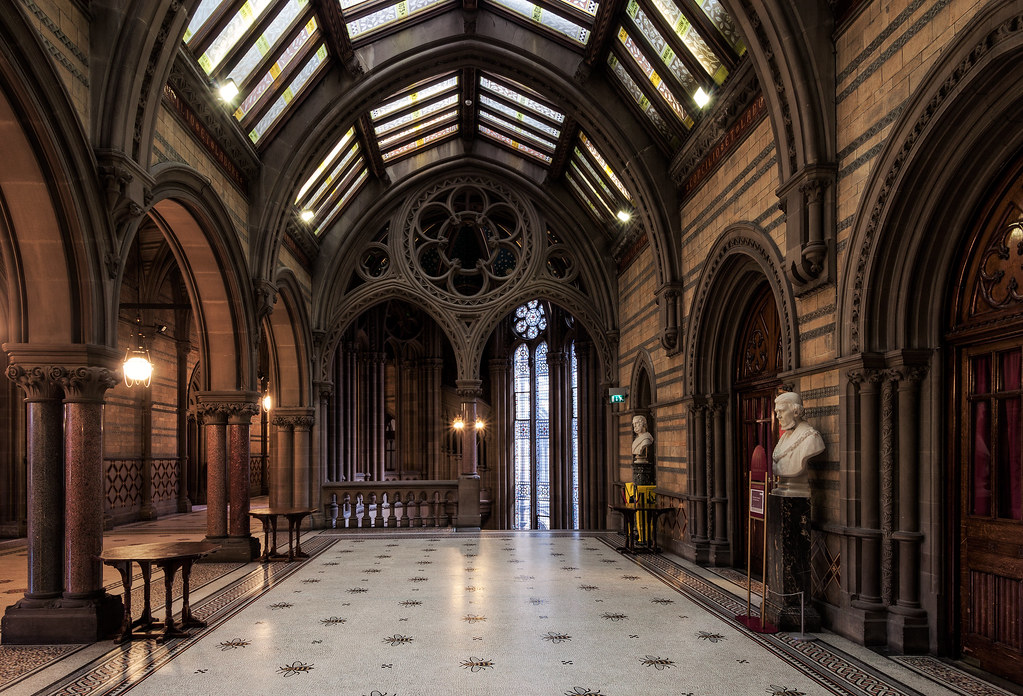Victorian Foyer University : Neo gothic hallway a in the
