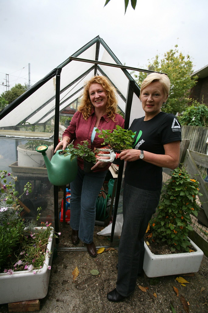 Charlie Dimmock At Launch Tv Gardener Charlie Dimmock