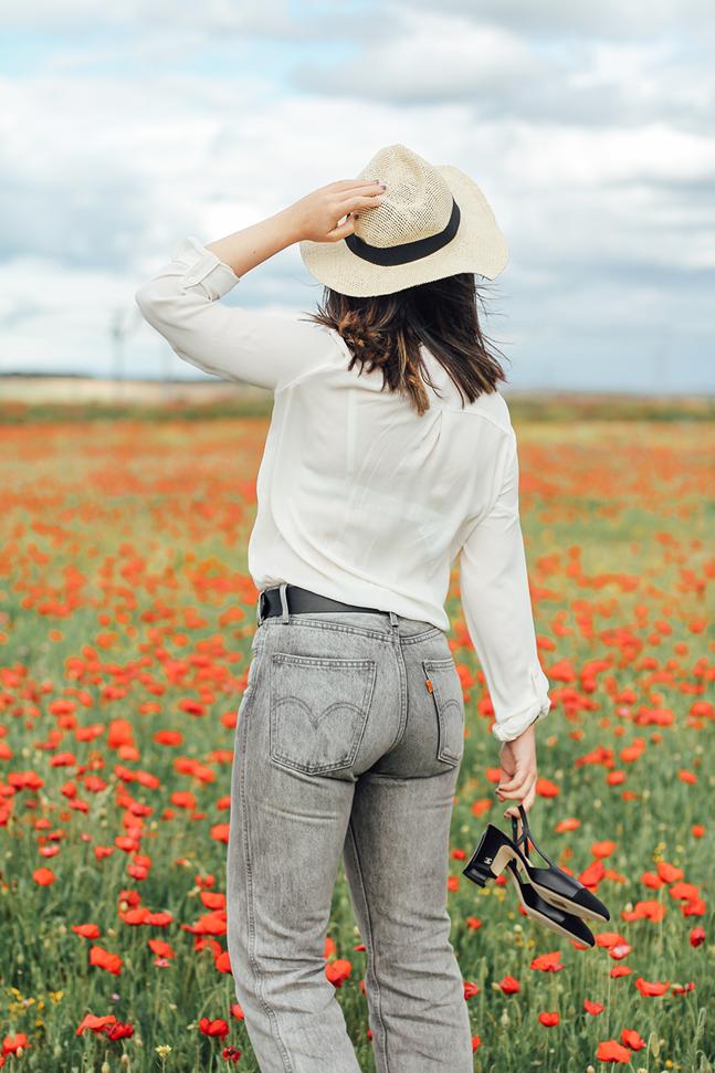 slingback chanel black heels celine sunglasses levis vintage 501 myblueberrynightsblog