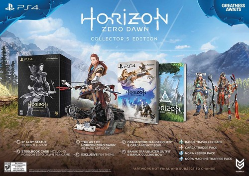 Horizon Zero Dawn Collectors edition