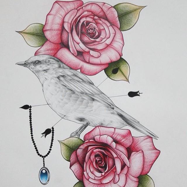 bird tattoo tumblr on back