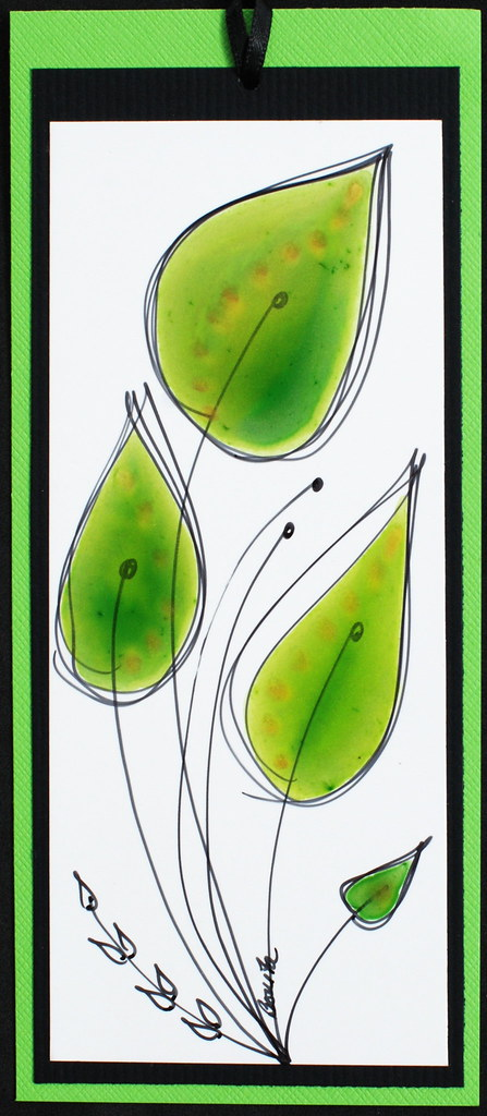Bookmark - Green Leave...