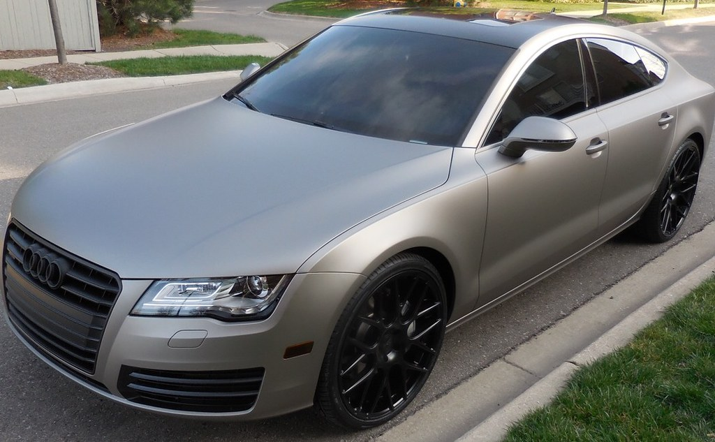 just finished up this audi a7 full matte silver wrap 3m flickr