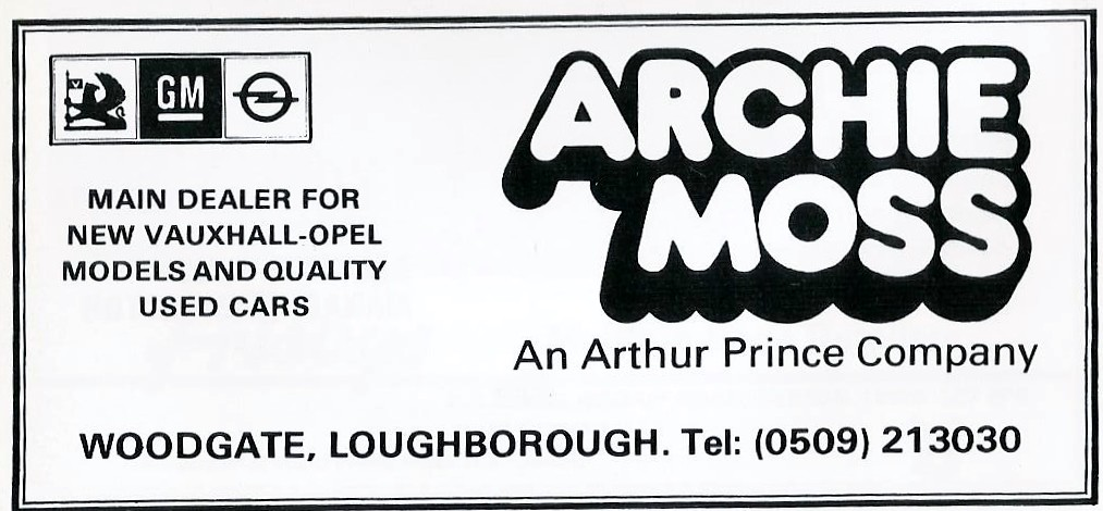 1984 ADVERT  ARCHIE MOSS VAUXHALL WOODGATE LOUGHBOROUGH  Flickr