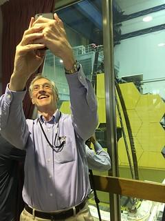 DR. JOHN C. MATHER selfie with Webb