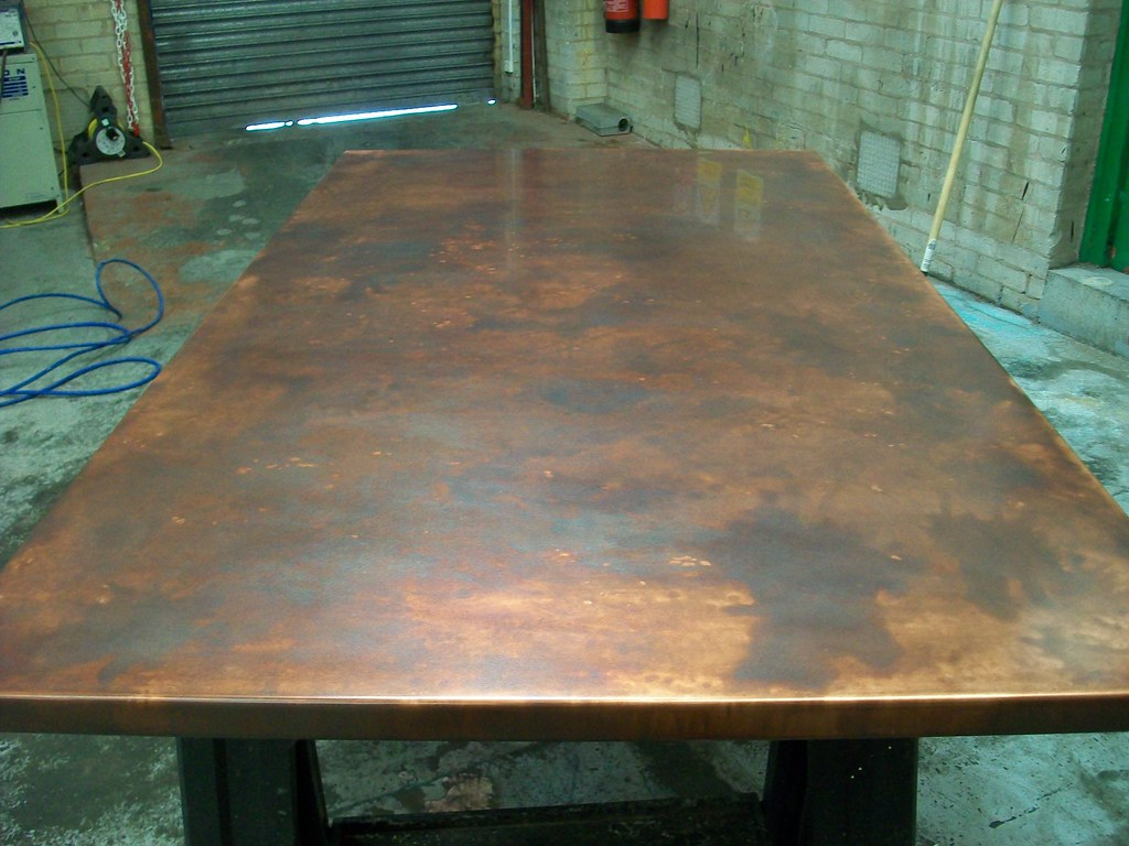 17 bronze aged copper table top variation of patina fini flickr. Black Bedroom Furniture Sets. Home Design Ideas
