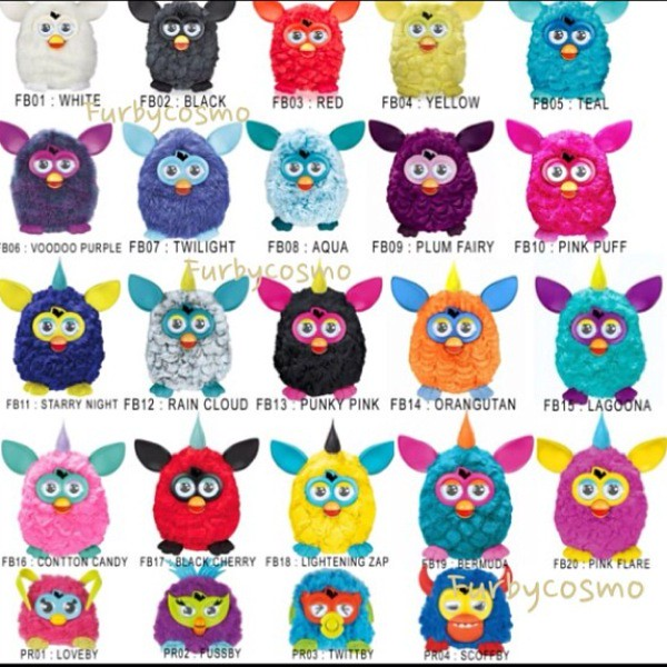 furby 2012 complete list by furbycosmo ig anuwat