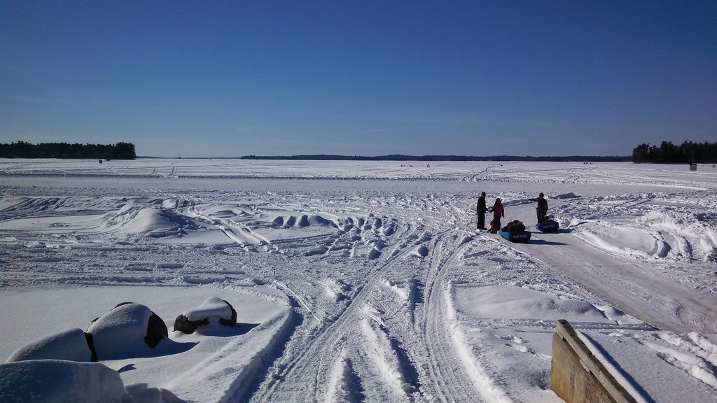 Raymond beach sebago lake maine preparations for ice for Maine ice fishing derbies