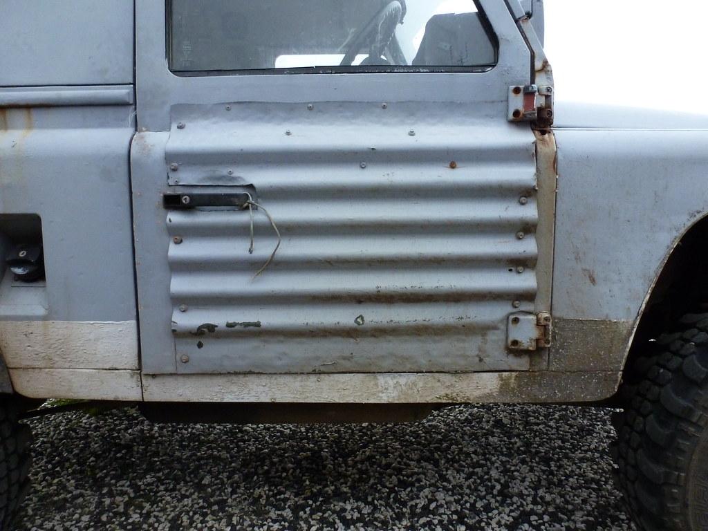 Unique Corrugated Iron Defender Door Obviously This