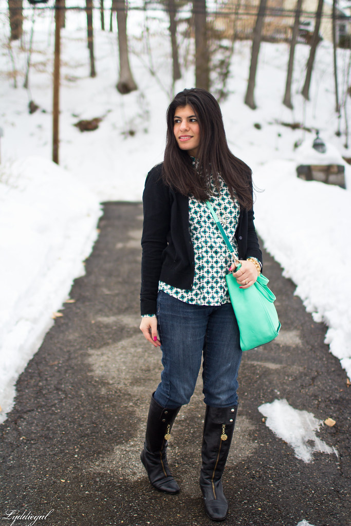 printed top, black cardigan, mint bag-4.jpg