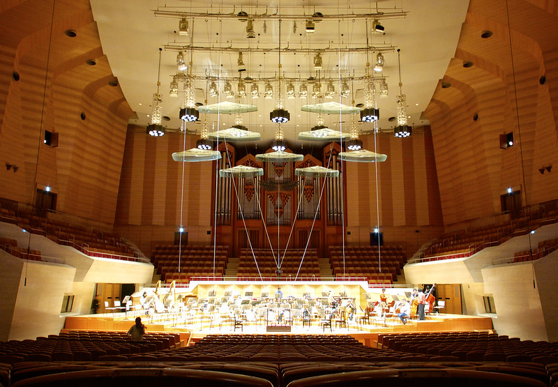 Suntory hall (before rehearsal)