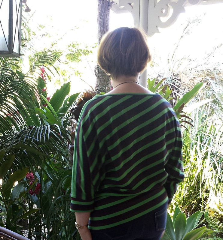 Waffle Patterns Vanilla diagonal knit top in fabric from Rathdowne Fabrics