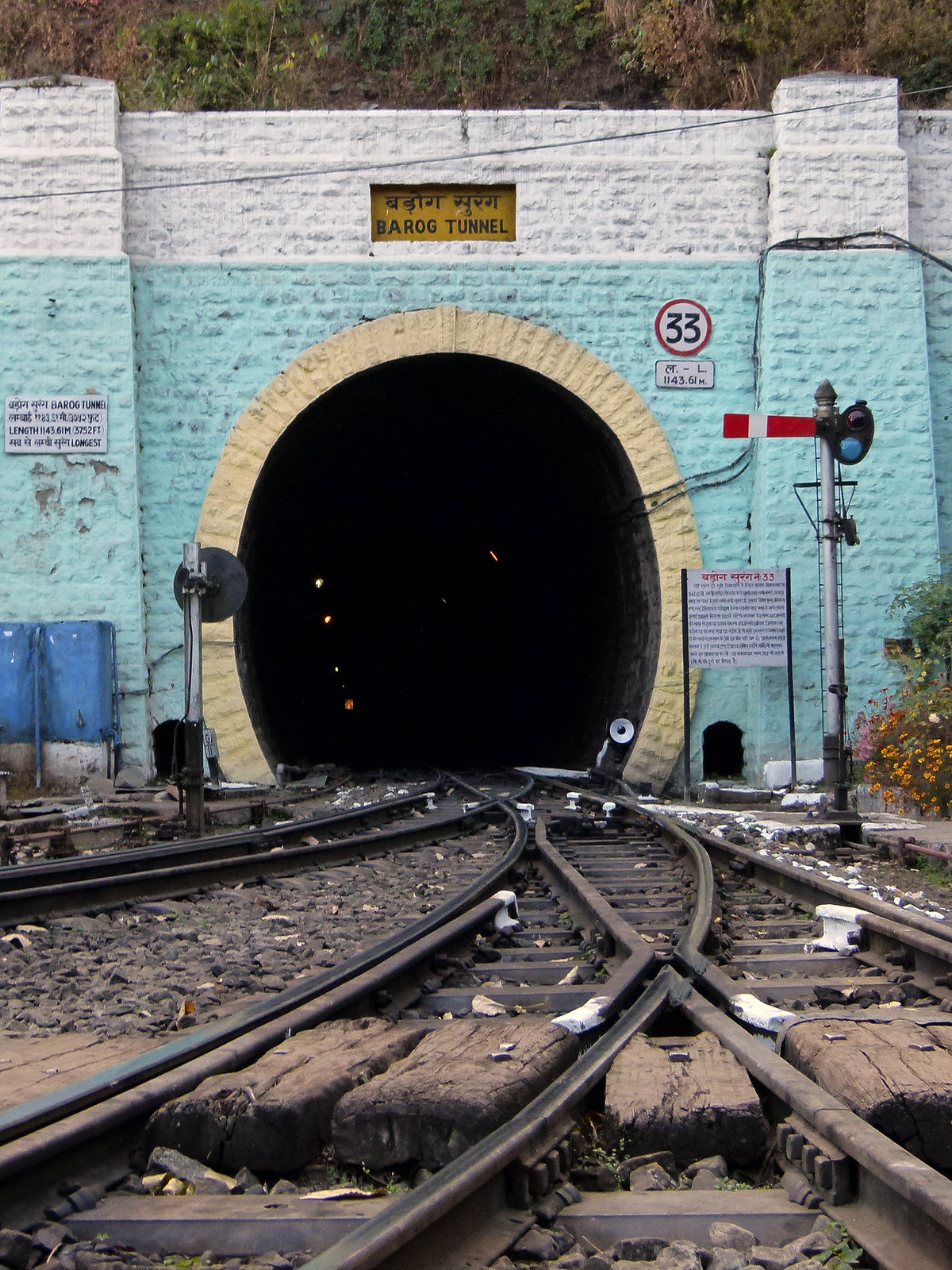 Barog Tunnel or Tunnel No. 33, Shimla