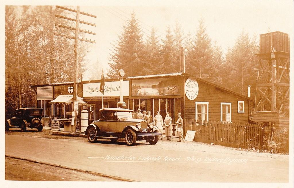 Postcard Hamsterley Lakeside Resort Saanich Bc C 1925