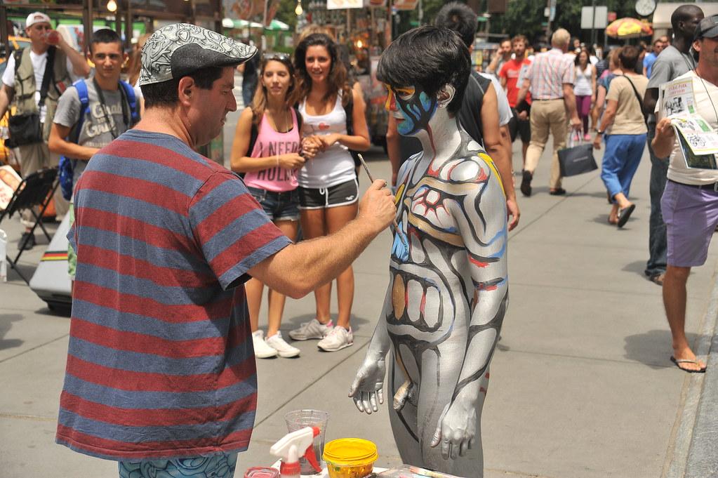 Cfnm nude in public