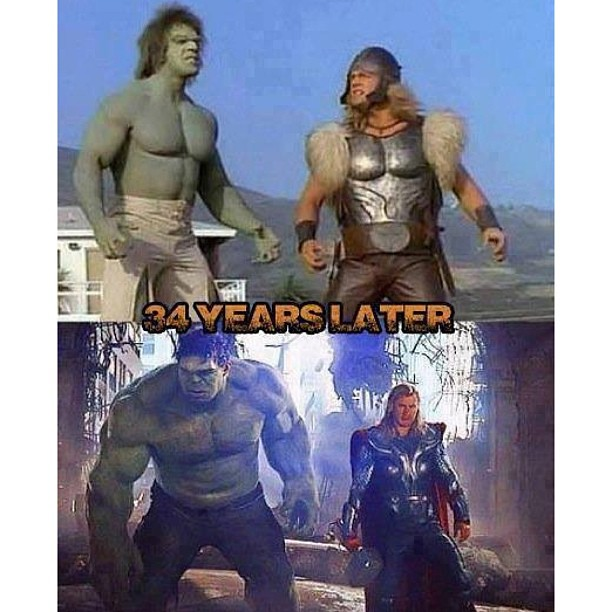 hulk and thor before and after instapic instasize fun