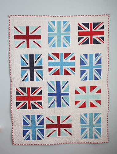 Riley-Blake-Union-jack-crib-quilt-tutorial | by amy smart