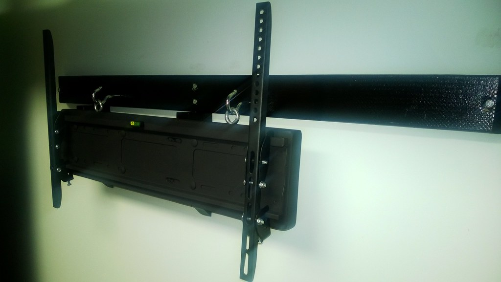 diy tv wall mount dual purpose the part hanging from the flickr. Black Bedroom Furniture Sets. Home Design Ideas