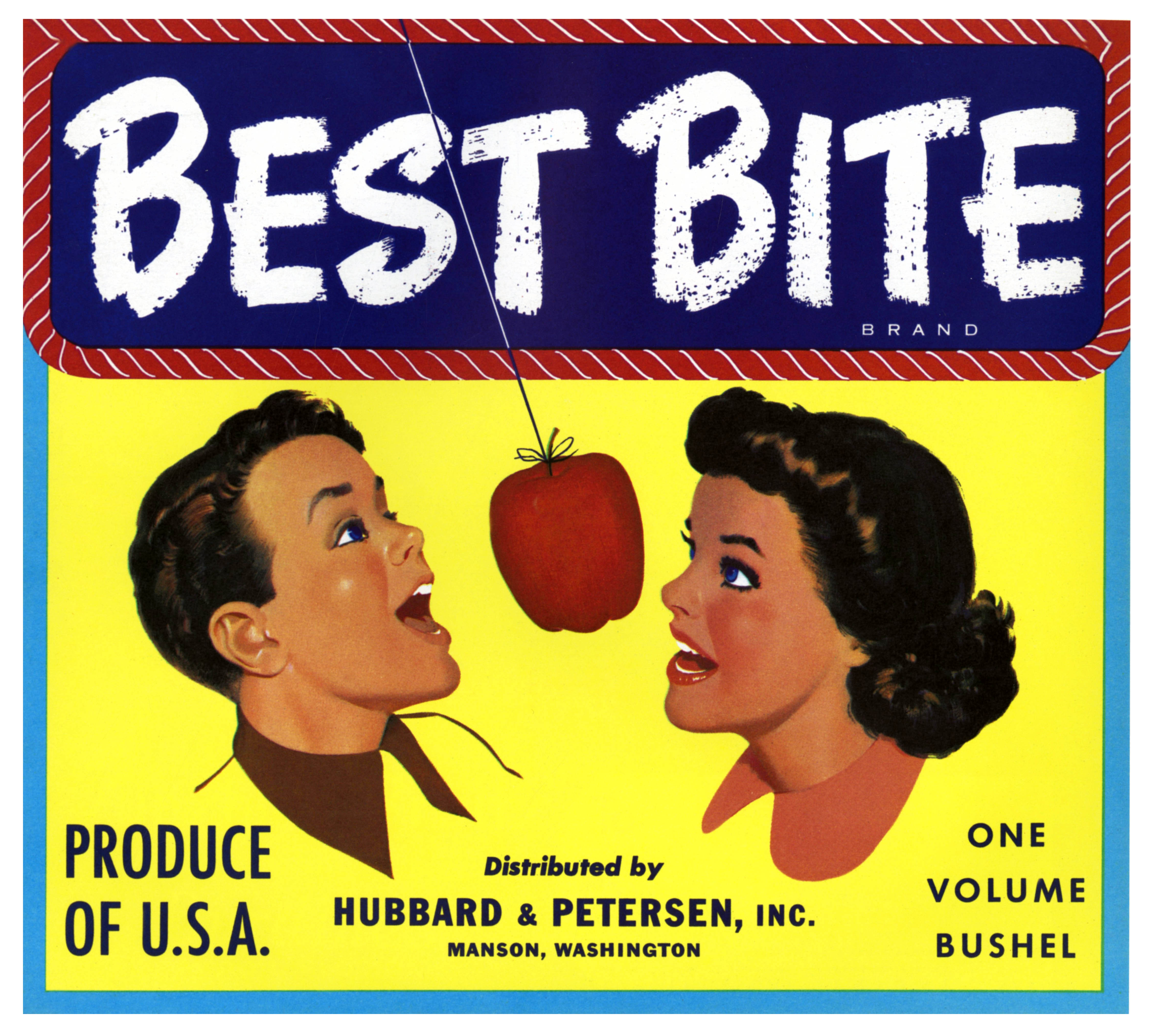 Best Bite crate label - Hubbard and Petersen, Inc. - Manson, Washington U.S.A. - date unknown