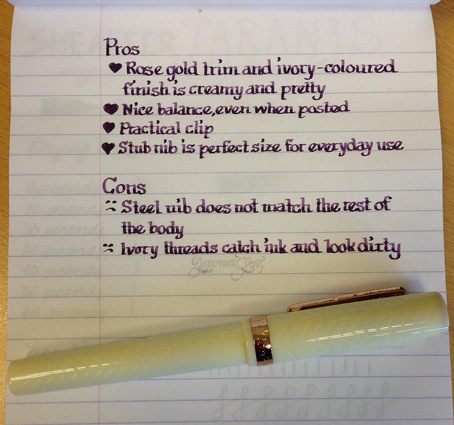 @PenChalet Conklin Glider Ivory Fountain Pen - Stub