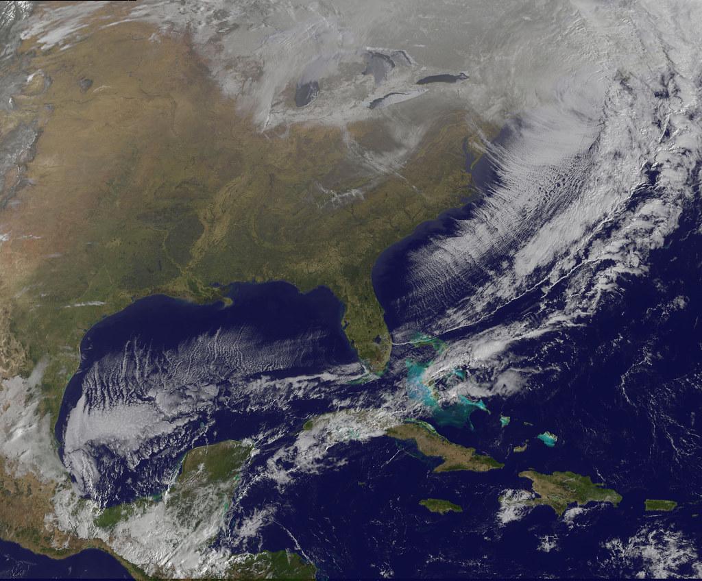 Satellite Shows Massive Eastern U S Cool Down A