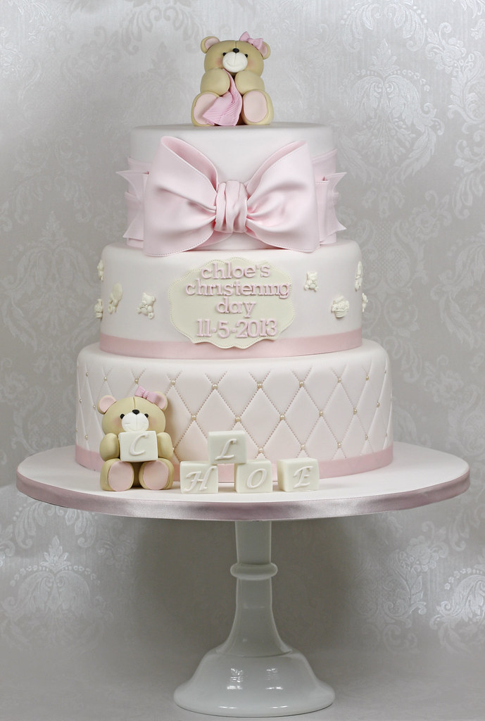 Teddies Christening Cake 3 Tier Christening Cake In Soft