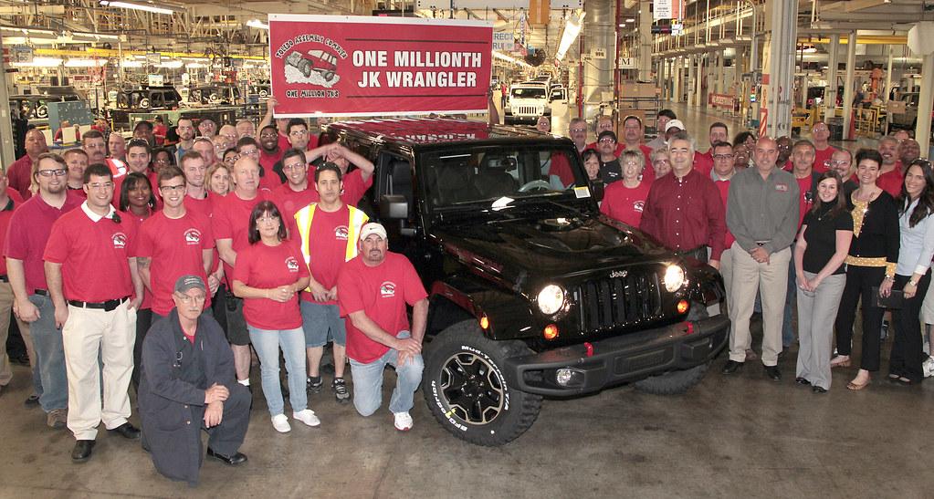 1 million jeep wrangler jks chrysler group executives pla flickr. Black Bedroom Furniture Sets. Home Design Ideas