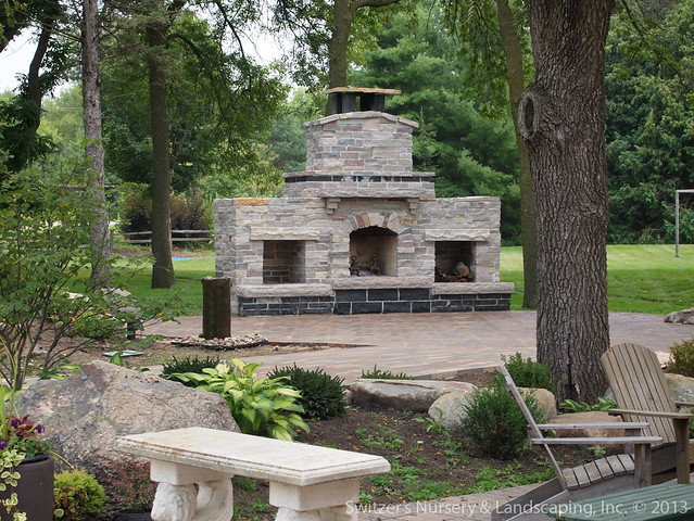 The Gardens Of Castle Rock: Outdoor Stone Fireplace At The Gardens Of Castle Rock By