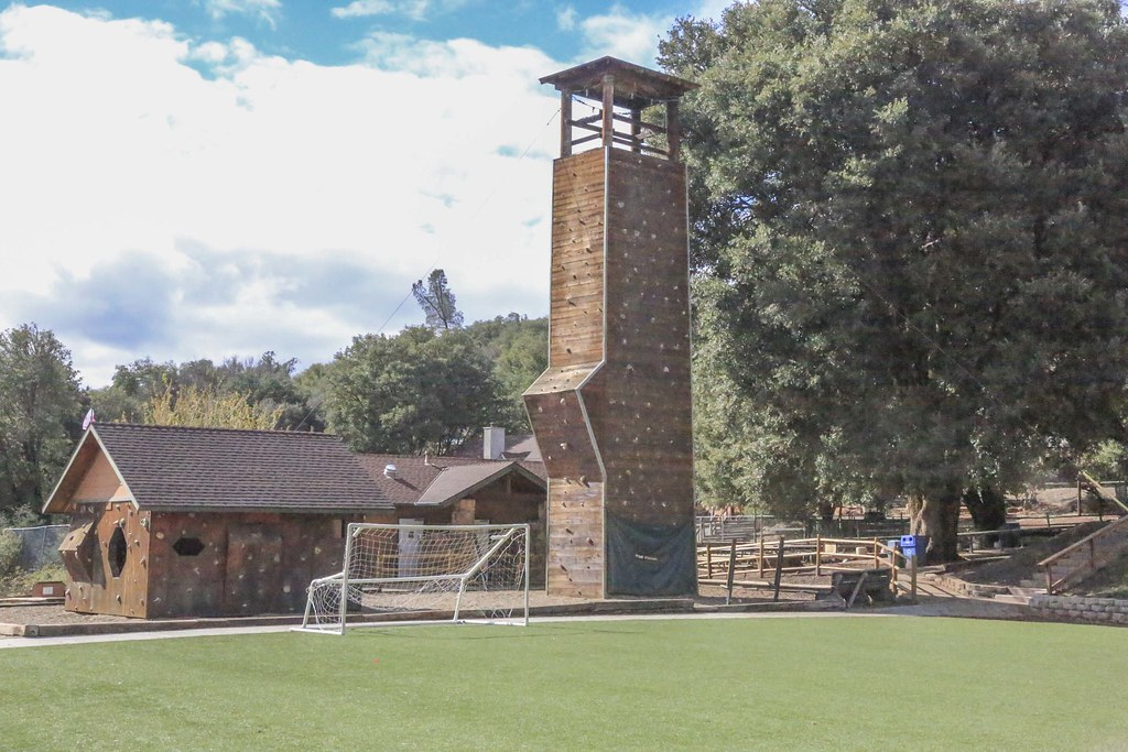 Camp Marston Soccer Field And Climbing Wall Tom