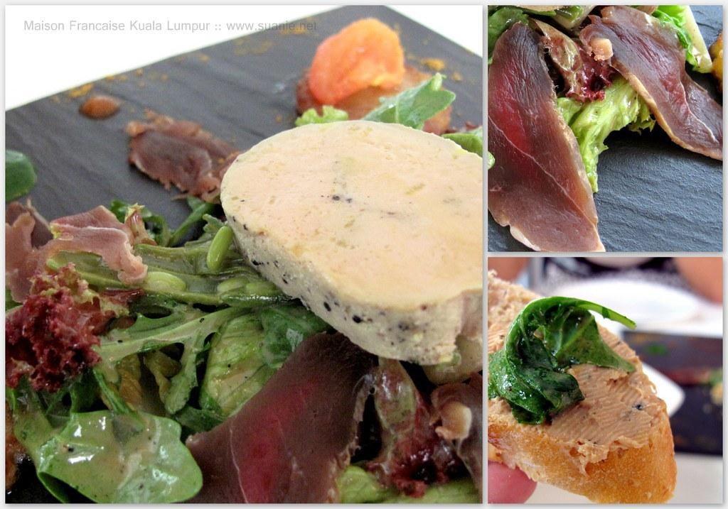 Maison francaise kuala lumpur landaise salad foie gras for Maison kuala lumpur