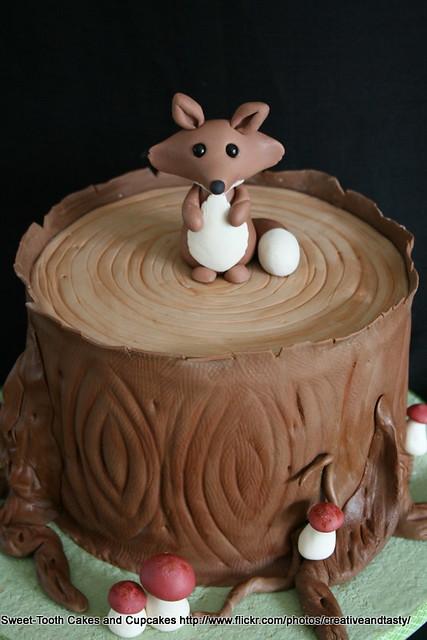 Fox Cake Topper Baby Shower