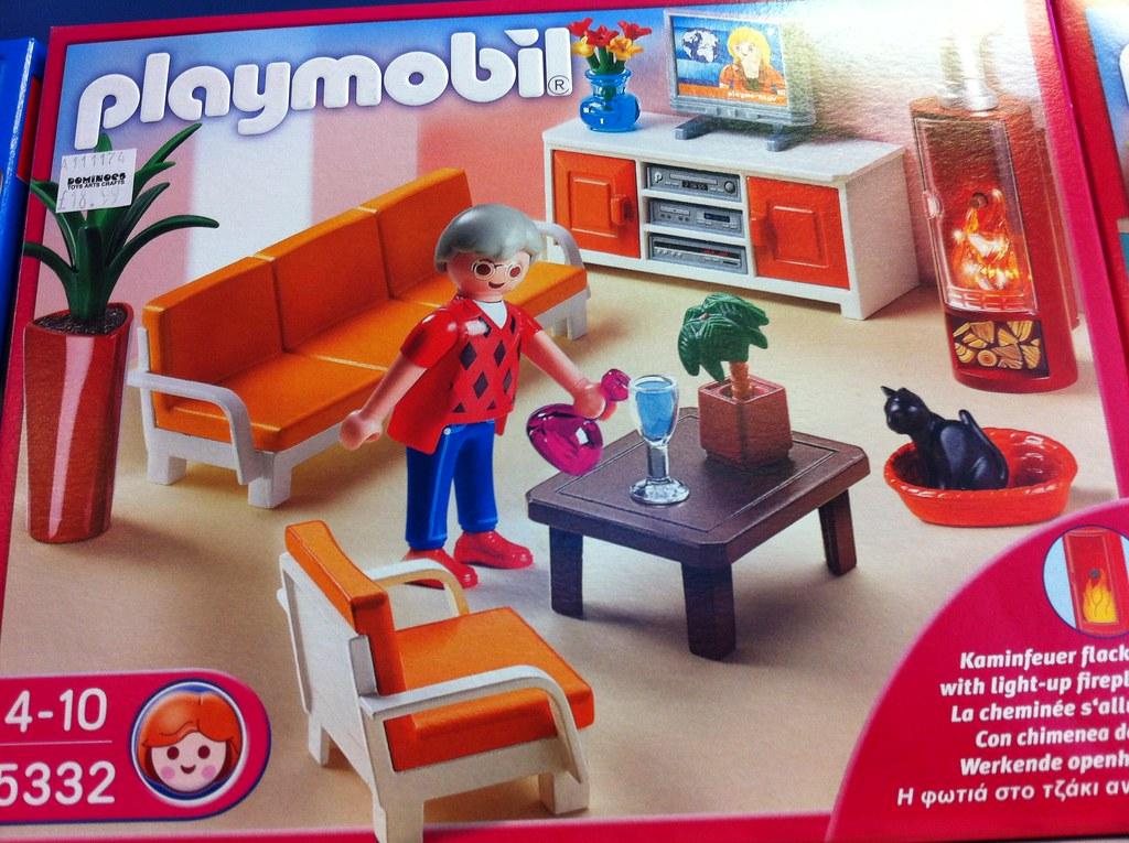 Playmobil living room playmobil living room set box for Playmobil living room 4282