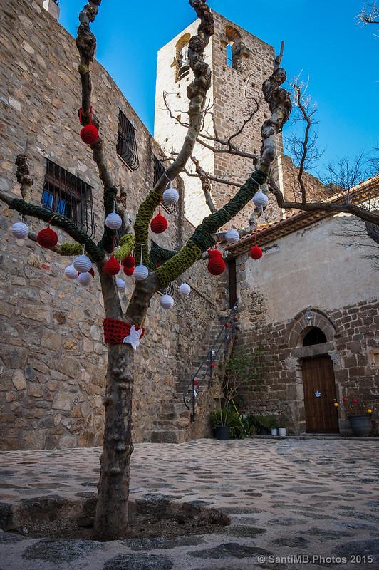 Decoración navideña en Cantallops