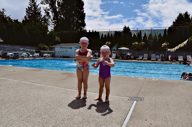 #100daysofsummer The girls started outdoor swim lessons today and for me, this means Summer has really begun!