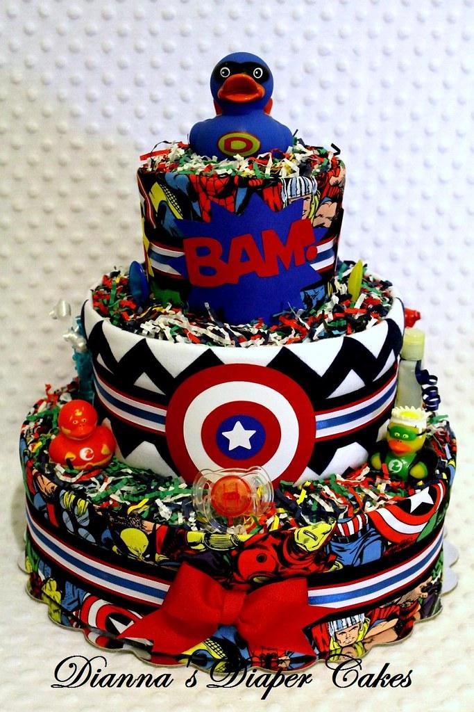 superhero baby diaper cake embellished baby diaper cake sh