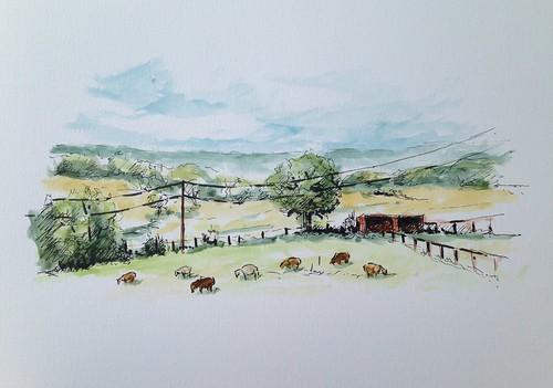 A little farm fresh plein air watercolor.