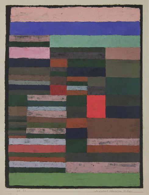 individualisierte Hohenmessung der Lagen, Paul Klee, 1930