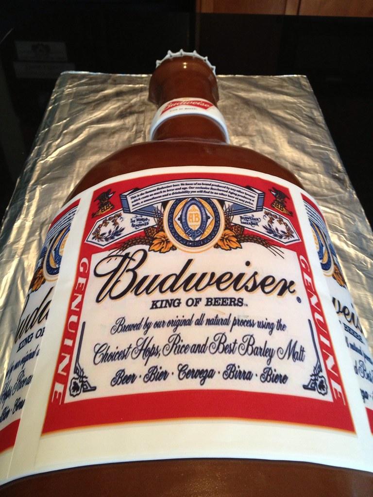 Bottle Of Budweiser Cake