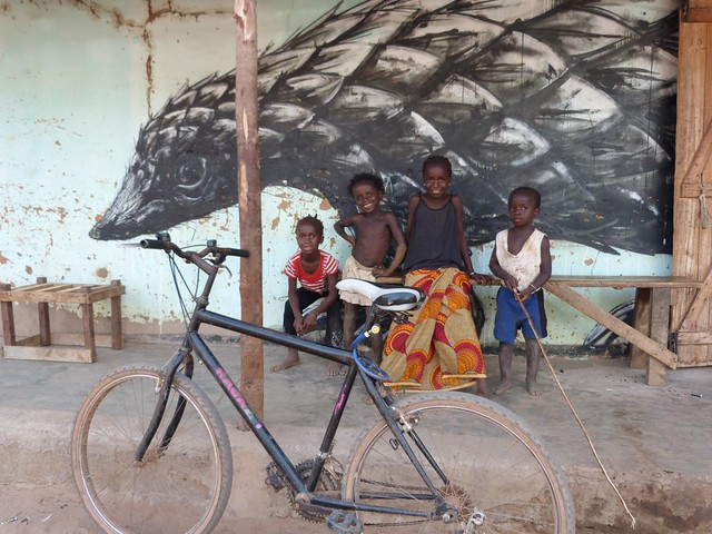 Detalle de una de las aldeas pintadas de Gambia