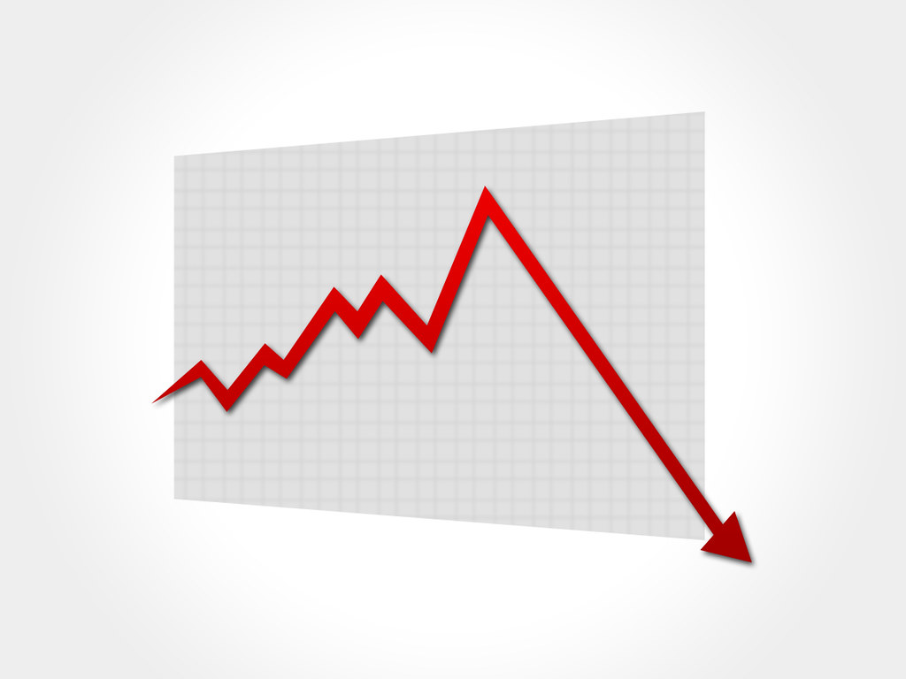 down graph with red color arrow | I have created a HD Graphi ...