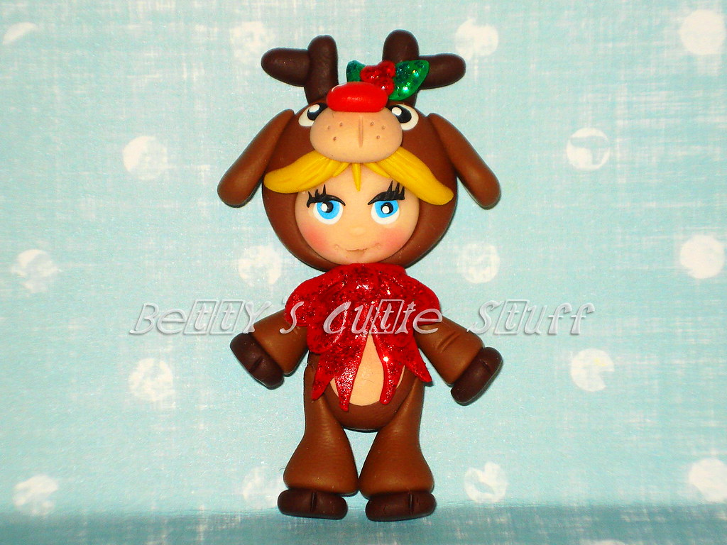 Girl Reindeer Reindeer Costume Girl