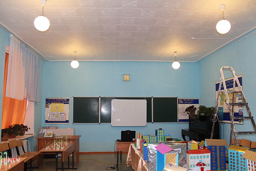 Modernizing lighting in Kazakhstan schools: Old lighting | by UNDP in Europe and Central Asia