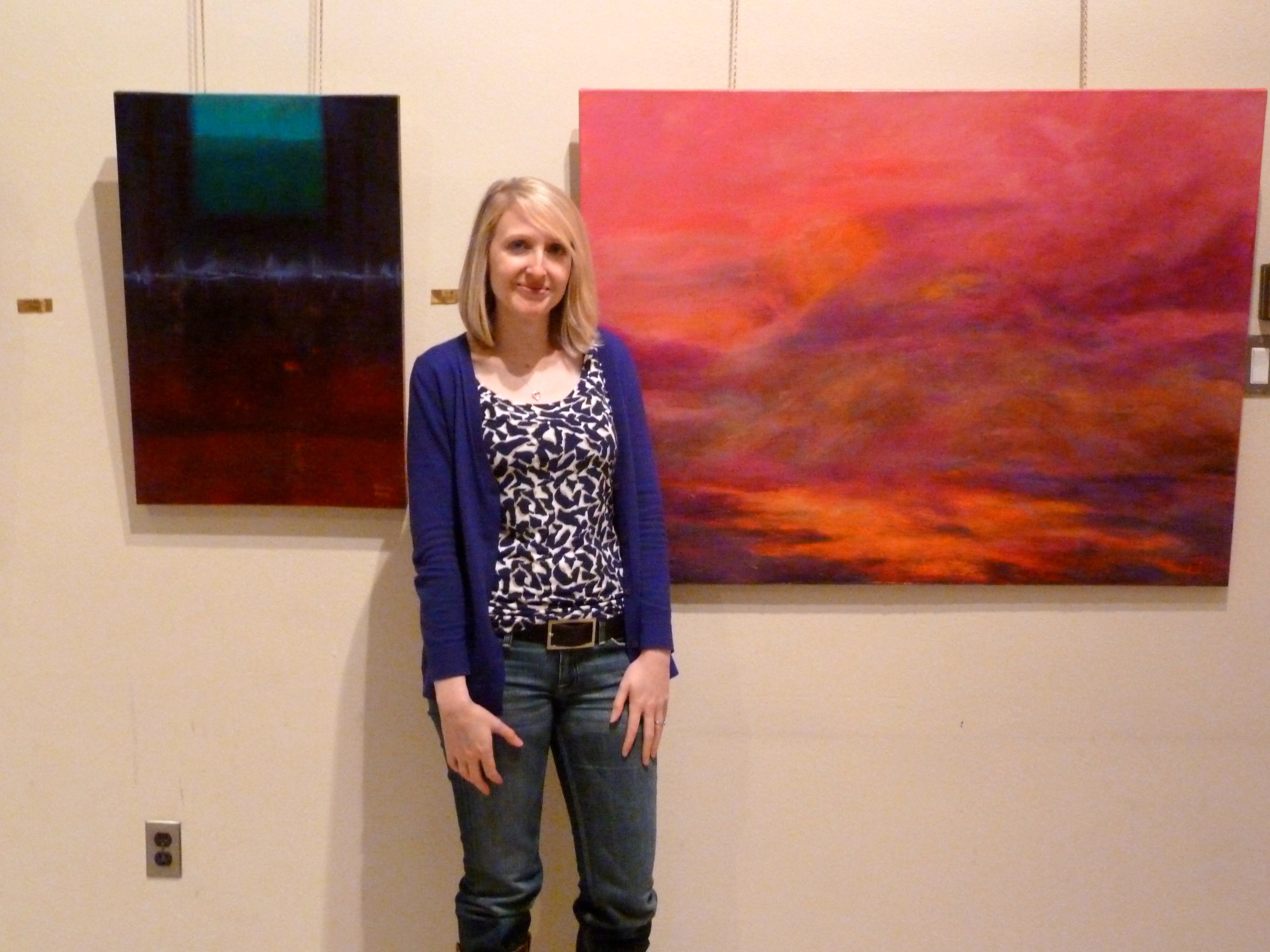 Me at Aunt Jeanne's art show