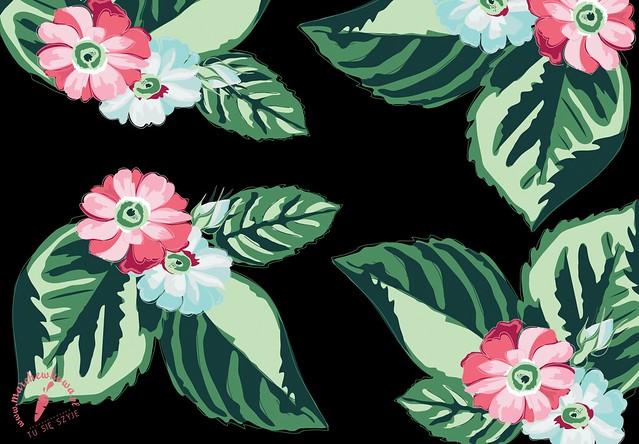 marchewkowa, grafika, nadruk, projekt tkaniny, wzór, print, Hawaii