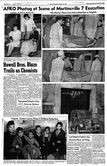 Afro Photos of Martinsville 7 Execution: 1951 | The ...