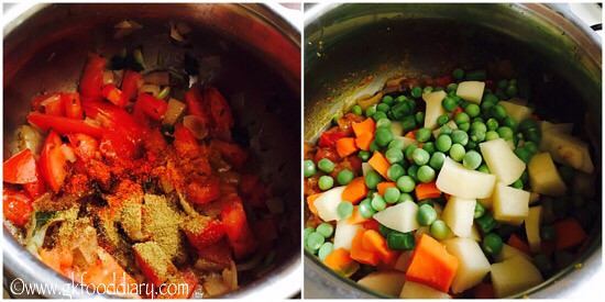 Mixed Vegetables Kurma Recipe for Toddlers and Kids - step 4