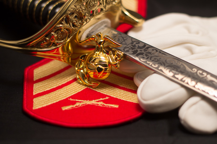 NCO Sword | Sergeant of Marines with NCO Sword gloves and ...