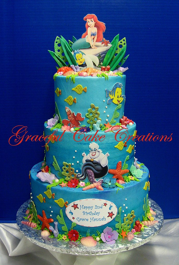 Mermaid Birthday Cake Toppers