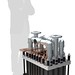 Multiple one megawatt Hydrogenics PEM electolyzer can be combined to create a large energy capacity plant.