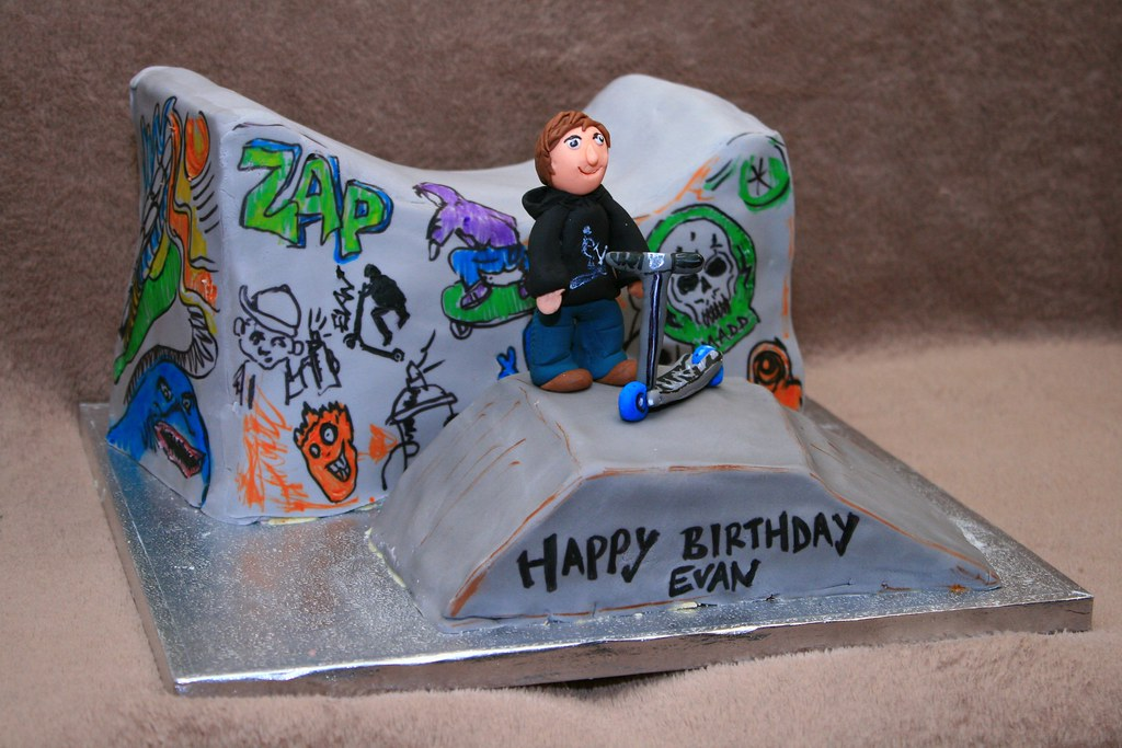 Skateboard Birthday Cake Images